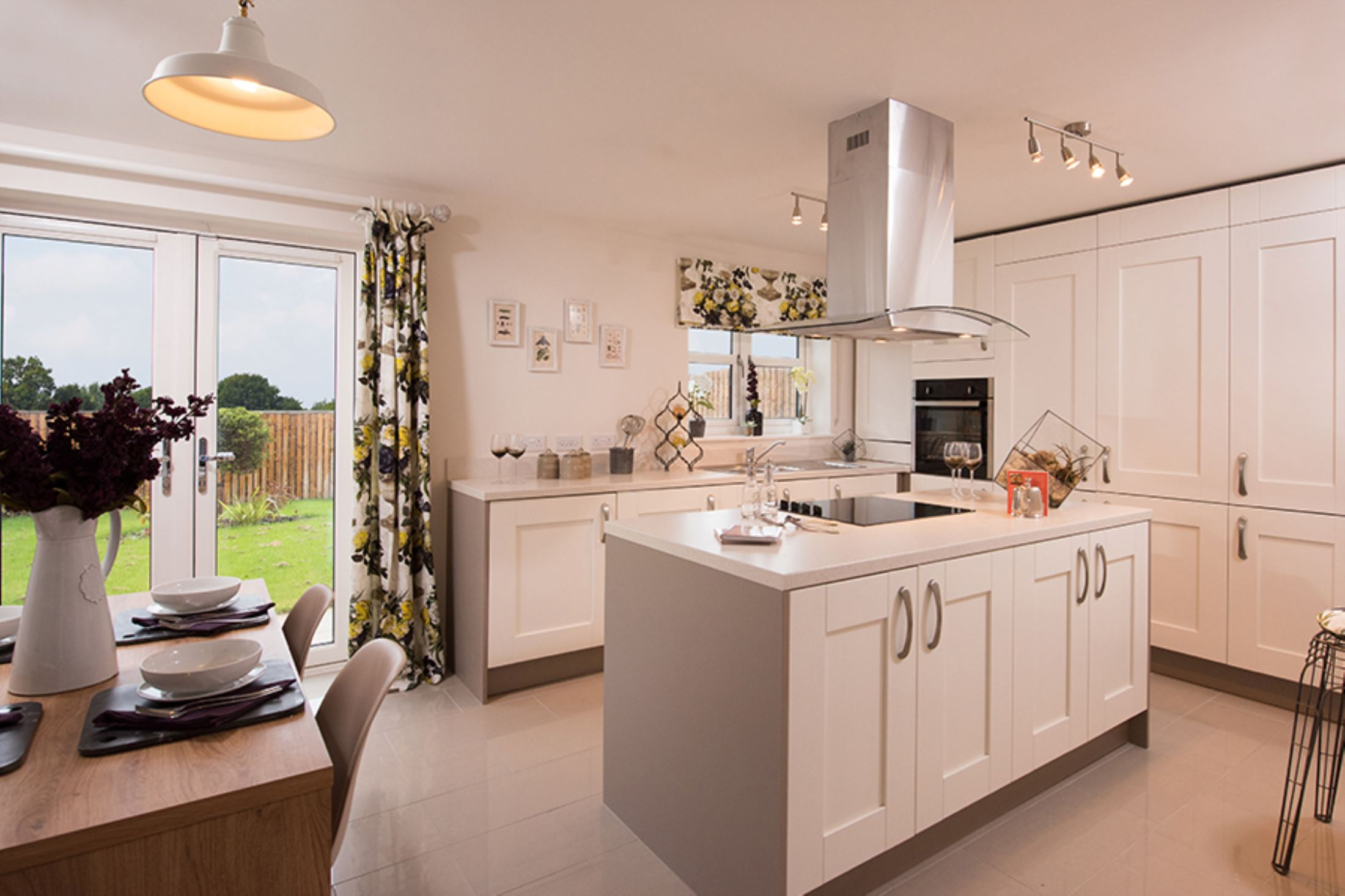 the green pudsey laurel showhome kitchen