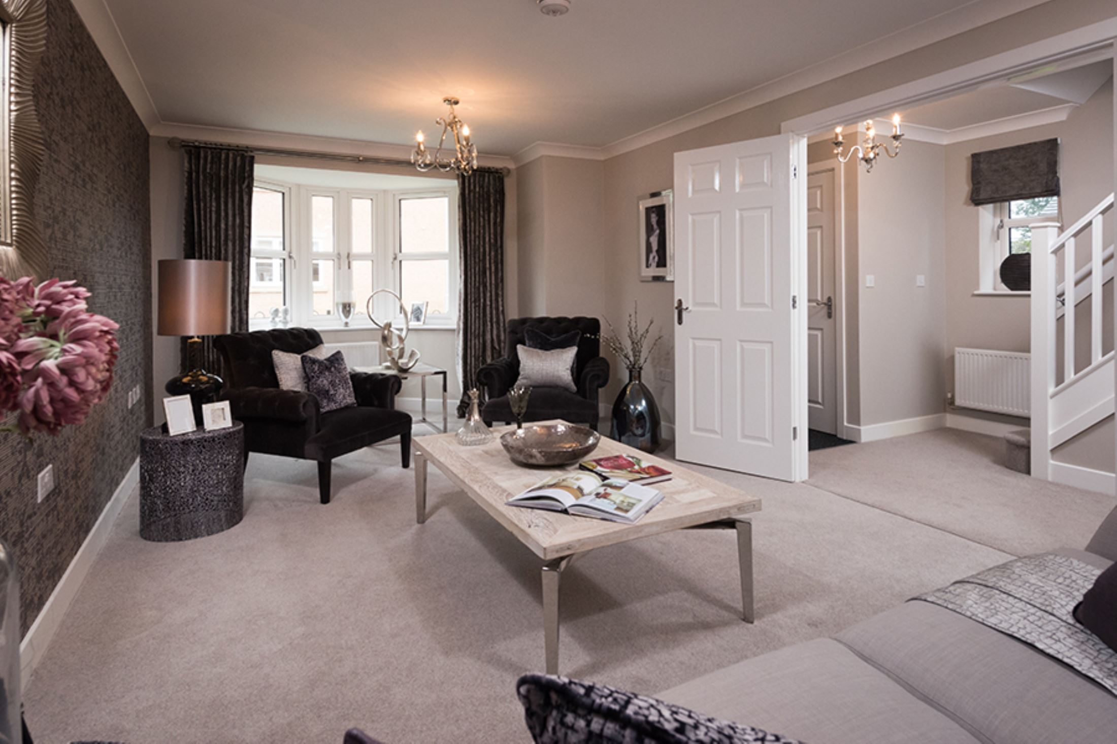 the laurel showhome the green pudsey living room