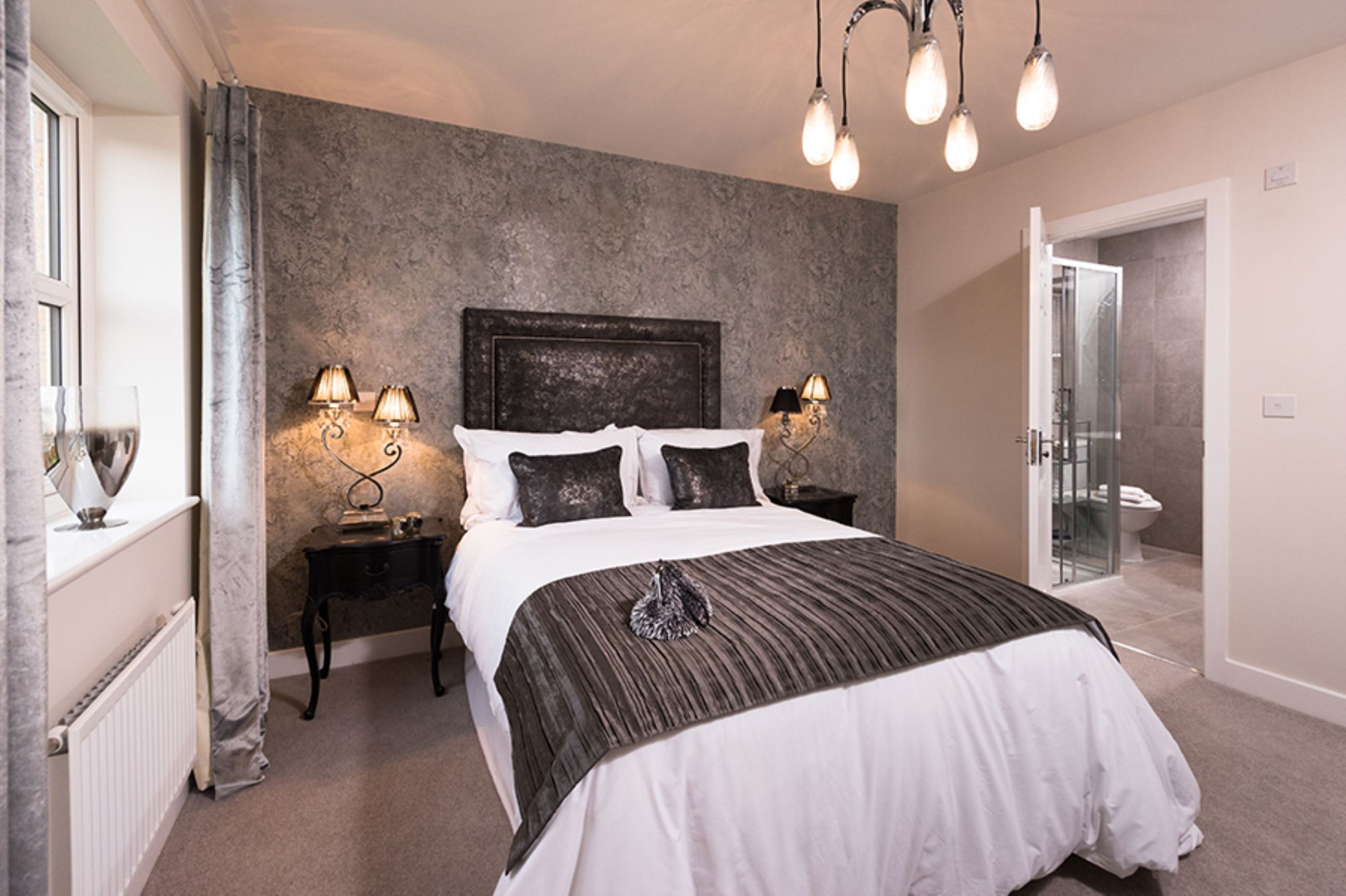 the green pudsey laurel showhome bedroom